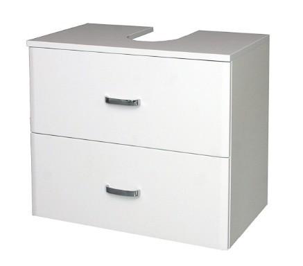 Melbourne - Skříňka pod umyvadlo, zásuvky (bílá/bílá)