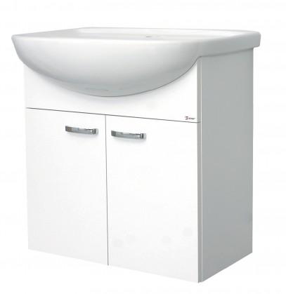 Melbourne - Skříňka s umyvadlem 60cm (bílá/bílá)
