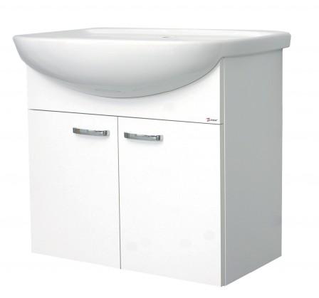Melbourne - Skříňka s umyvadlem 65cm (bílá/bílá)