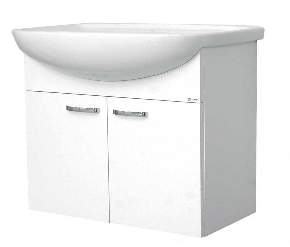 Melbourne - Skříňka s umyvadlem 70cm (bílá/bílá)