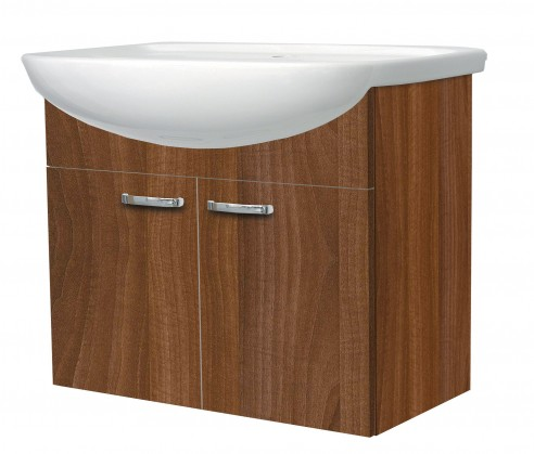Melbourne - Skříňka s umyvadlem 70cm (ořech/ořech)