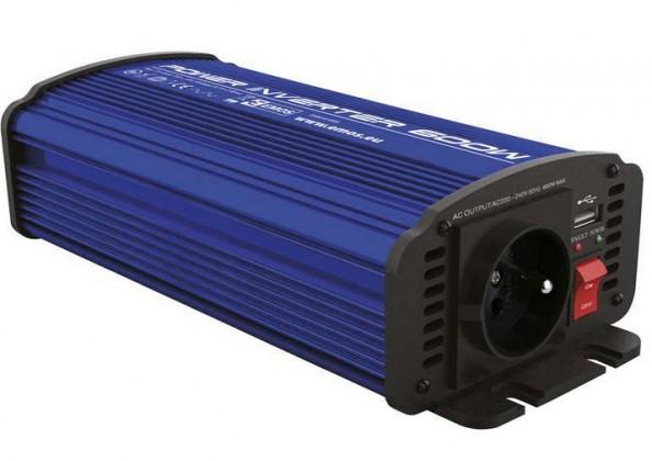 Měniče napětí EMOS 12V/230V, 600W