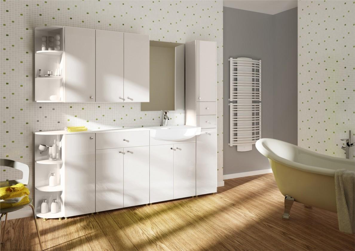 Messina - Koupelnová sestava,bez baterie (bílá,boky bílé)