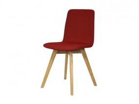 Mia - Jídelní židle (dub, látka červená)