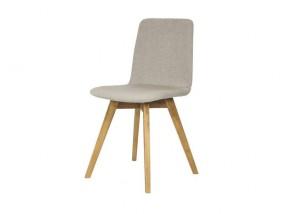 Mia - Jídelní židle (dub, látka šedá)
