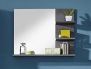 Miami - Zrcadlový panel (kouřově stříbrný dekor dřeva, zrcadlo)