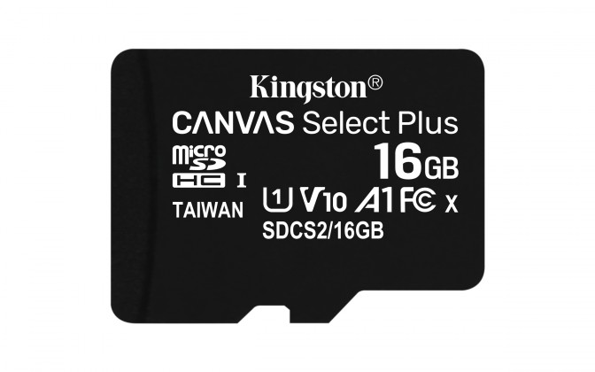 Micro SDHC 16GBmicroSDHCKingstonCanvasSelect Plus  A1 CL10 100MB/s