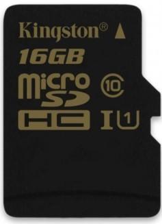 Micro SDHC Kingston Micro SDHC 16GB Class 10 UHS-I - SDCA10/16GBSP