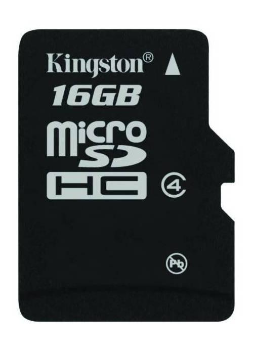 Micro SDHC Kingston Micro SDHC 16GB Class 4 - SDC4/16GBSP