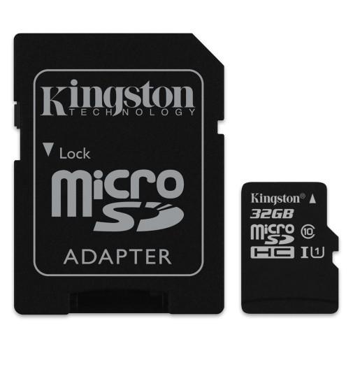 Micro SDHC Kingston Micro SDHC 32GB Class 10 + adaptér - SDC10/32GB