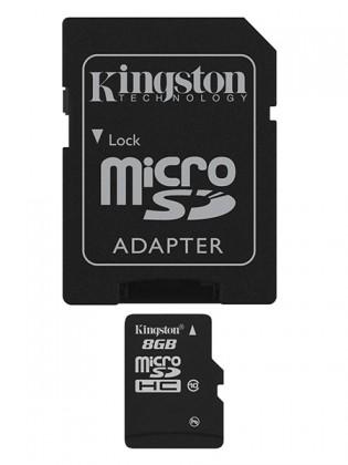 Micro SDHC Kingston Micro SDHC 8GB Class 10 + adaptér - SDC10/8GB