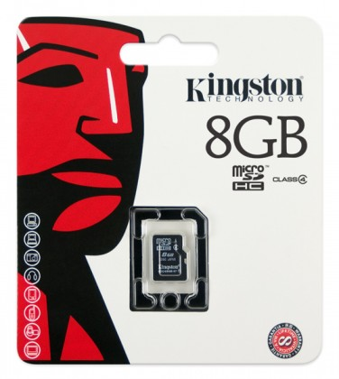 Micro SDHC Kingston Micro SDHC 8GB Class 4 - SDC4/8GBSP