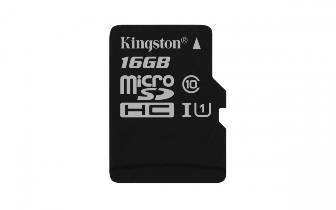 Micro SDHC Kingston Micro SDHC Canvas Select 16GB 80MB/s UHS-I  SDCS/16GBSP