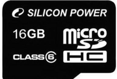 Micro SDHC Silicon Power micro SDHC 16GB class 6 + SD adaptér
