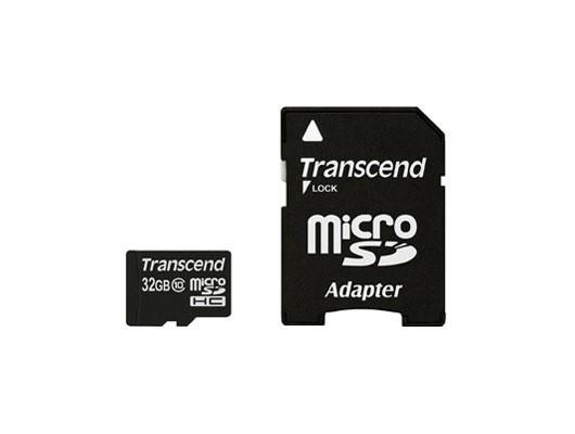 Micro SDHC TRANSCEND Micro SDHC Class 10 32GB + adaptér