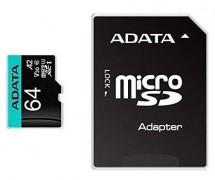 Micro SDXC karta Adata 64GB (AUSDX64GUI3V30SA2)