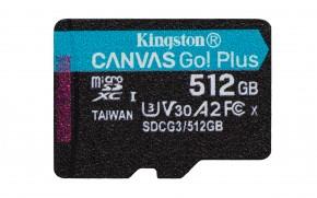 Micro SDXC karta Kingston Canvas Go! Plus 512GB (SDCG3/512GBSP)