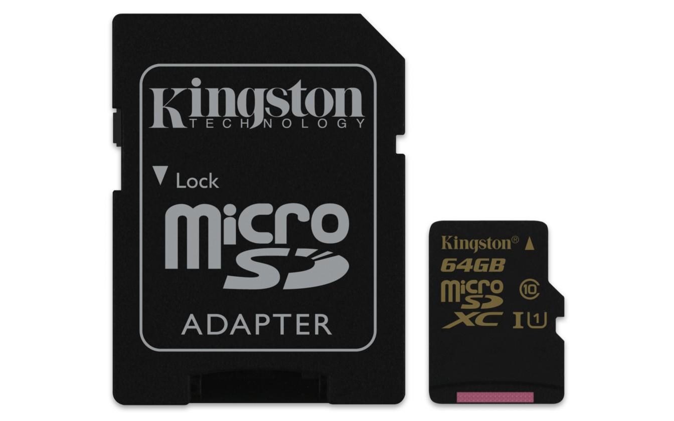 Micro SDXC Kingston Micro SDXC 64GB Class 10 UHS-I + adaptér - SDCA10/64GB