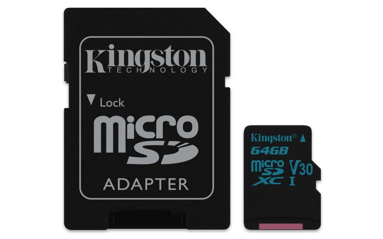 Micro SDXC Kingston Micro SDXC Canvas Go! 64GB + SD adaptér SDCG2/64GB