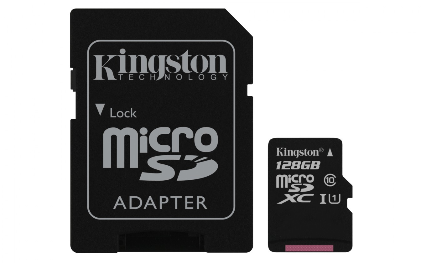 Micro SDXC Kingston Micro SDXC Canvas Select 128GB+ SD adaptér  SDCS/128GB
