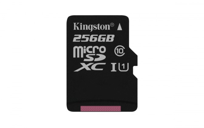 Micro SDXC Kingston Micro SDXC Canvas Select 256GB 80MB/UHS-I SDCS/256GBSP