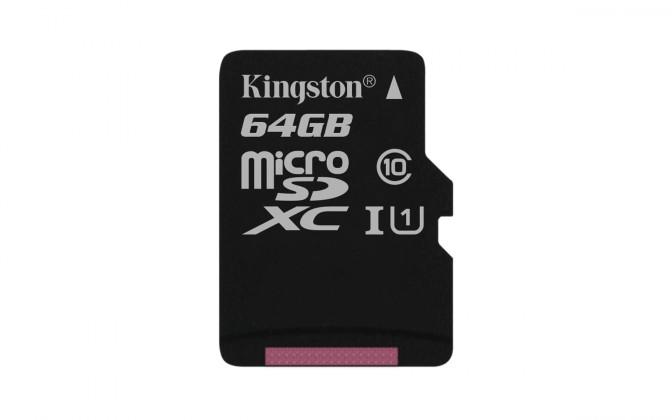 Micro SDXC Kingston Micro SDXC Canvas Select 64GB 80MB/s UHS-I SDCS/64GBSP