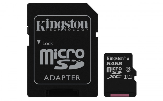Micro SDXC Kingston Micro SDXC Canvas Select 64GB + SD adaptér  SDCS/64GB