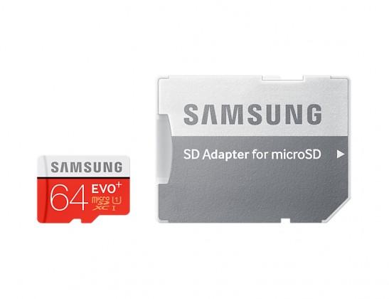 Micro SDXC SAMSUNG Micro SDHX 64GB Samsung EVO PLUS + adaptér MB-MC64DA/EU