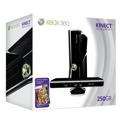Microsoft Xbox 360 250GB Kinect Bundle + Kinect Adventures