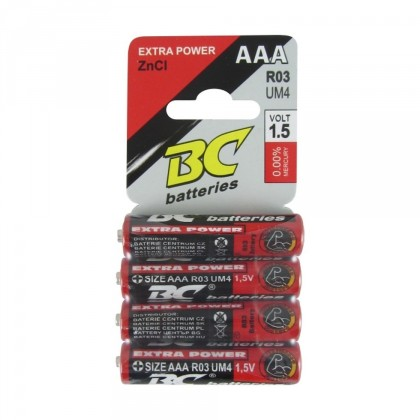 Mikrotužková baterie BC Extra Power AAA 4ks