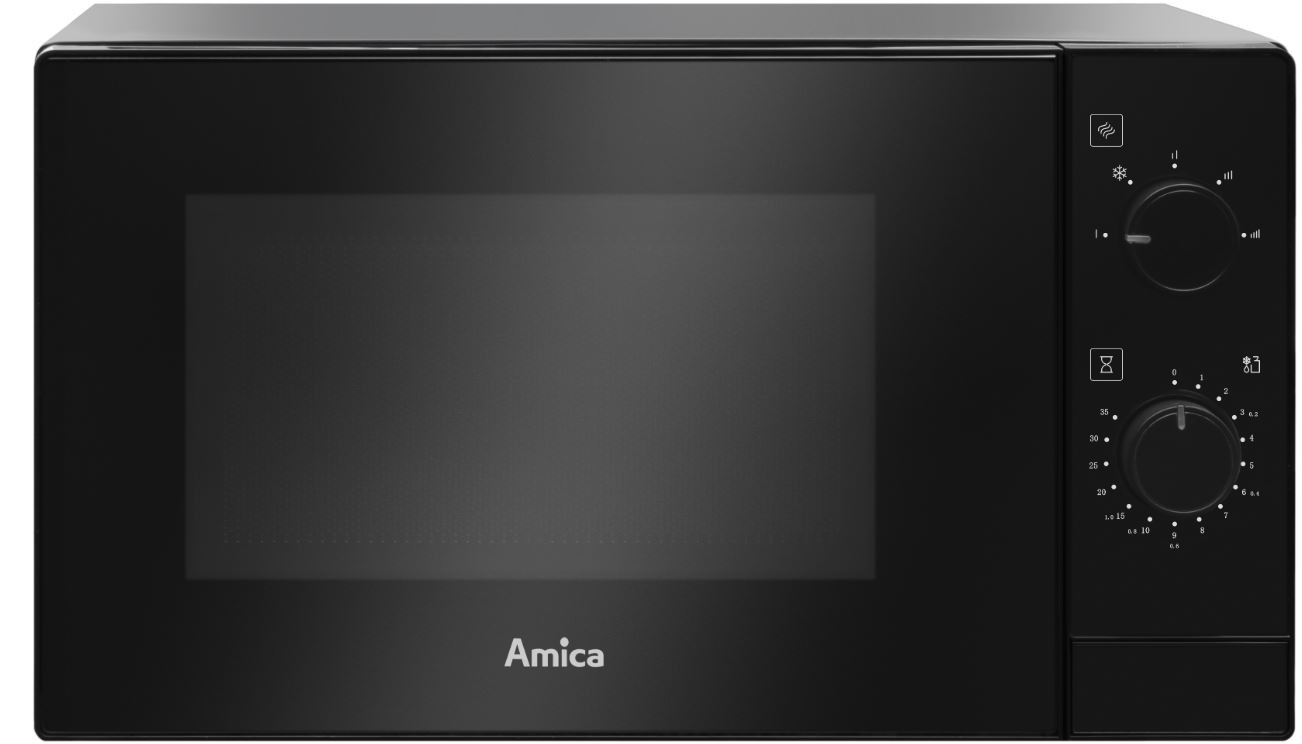 Mikrovlnná trouba Volně stojící mikrovlnná trouba Amica AMMF20M1B, 700 W, černá