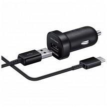 Mini cestovní adaptér do auta Samsung USB-C, černý