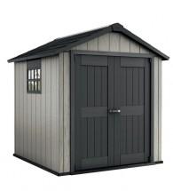 Minotaur - zahradní domek (229x223 cm, šedá/antracit)