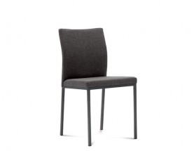 Miro - Jídelní židle (lak antracit mat, látka hnědá)