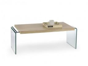 Miura - Konferenční stolek (dub sonoma, transparentní)