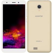 Mobilní telefon ALIGATOR S5520 Duo 1GB/16GB, zlatý + DÁREK Antivir Bitdefender pro Android v hodnotě 299 Kč