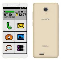 Mobilní telefon ALIGATOR S5520 SENIOR 1GB/16GB, zlatý POUŽITÉ, NE