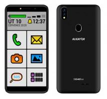 Mobilní telefon Aligator S5540KS 2GB/32GB, Kids+Senior, černá