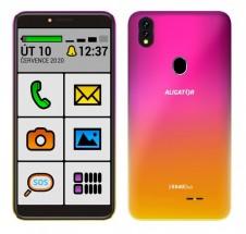 Mobilní telefon Aligator S5540KS senior 2GB/32GB, růžovo-zlatá