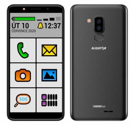 Mobilní telefon Aligator S6000S 1GB/16GB, černá