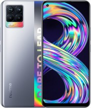 Mobilní telefon Realme 8 4GB/64GB, stříbrná