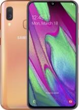 Mobilní telefon Samsung Galaxy A40 4GB/64GB, oranžová + SAMSUNG Galaxy Fit e