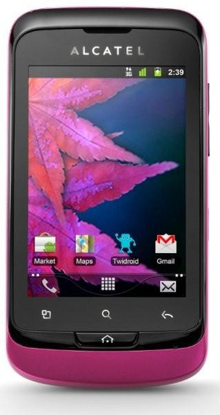 Mobily, GPS Alcatel 918D růžovočerný (918D-2FALCZ1-JS40)