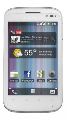 Mobily, GPS Alcatel One Touch 991D White
