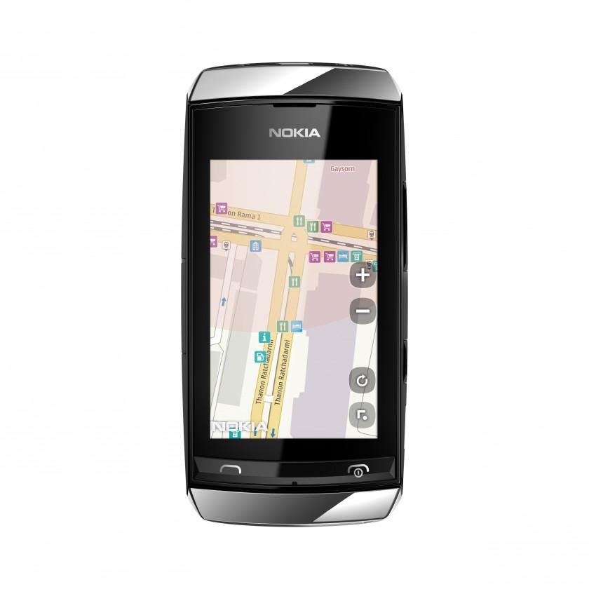 Mobily, GPS NOKIA Asha 306 Silver White