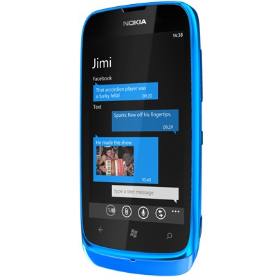 Mobily, GPS Nokia Lumia 610 Cyan