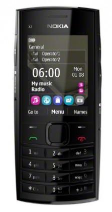 Mobily, GPS Nokia X2-02 Dark Silver (Dual-SIM)