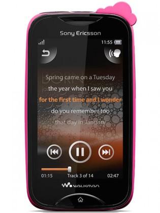 Mobily, GPS Sony Ericsson Walkman Mix WT13 Pink cloud on black