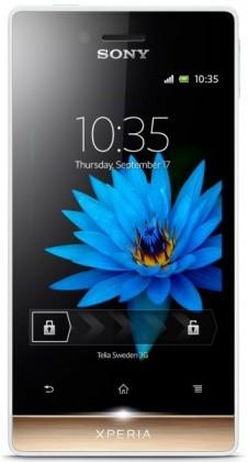 Mobily, GPS Sony Xperia miro White Gold ST23i