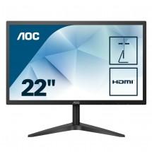 """Monitor AOC 22B1H, 21,5"""", HDMI, 5ms, černá + ZDARMA USB-C hub Olpran"""
